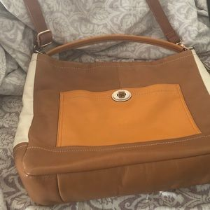Coach tan cream and orange. Like new. Size large